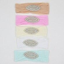 Yundfly 1PCS Newborn Toddler Baby Girls Head Wraps Rhinestone Knot Nylon Turban Headband Hair Accessories Birthday Gifts