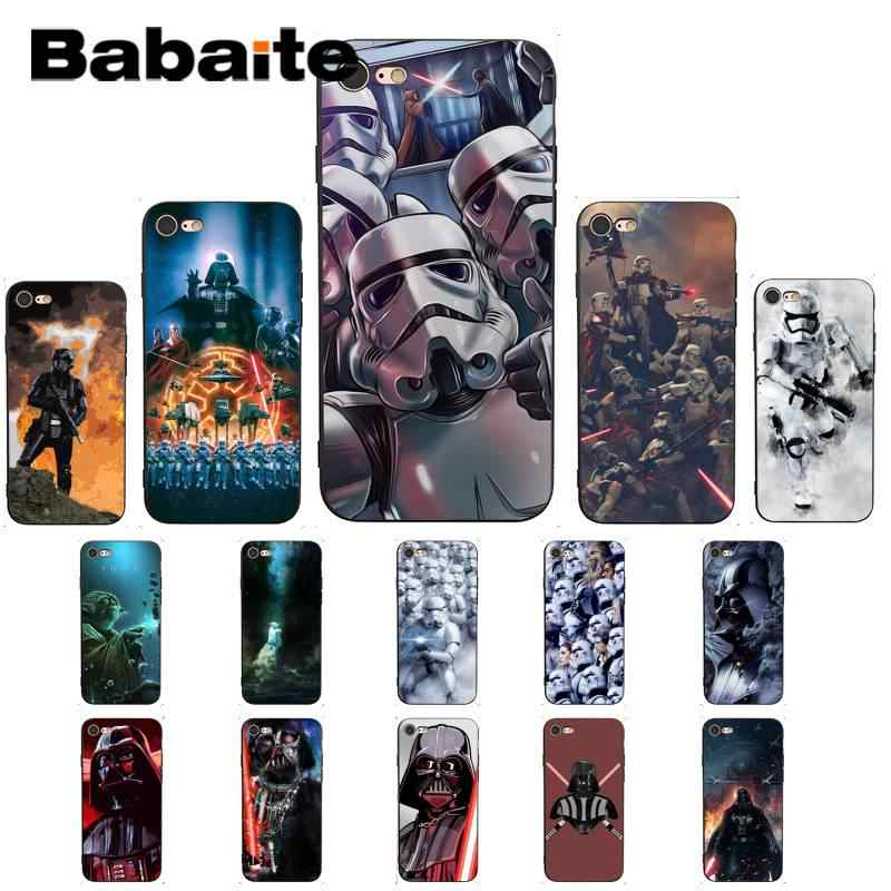 Babaite Film Star Wars Novelty Fundas Phone Case Cover UNTUK iPhone 8 7 6 6S Plus X XS Max 5 5S SE XR Cover 11 11pro 11 Promax