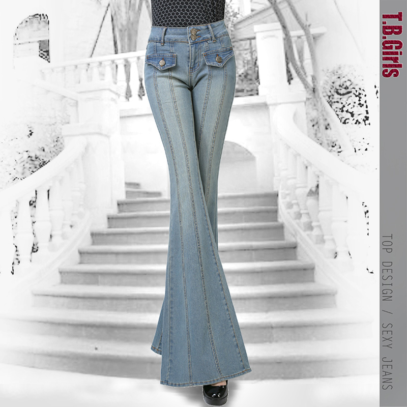 Jeans bootcut femme stretch