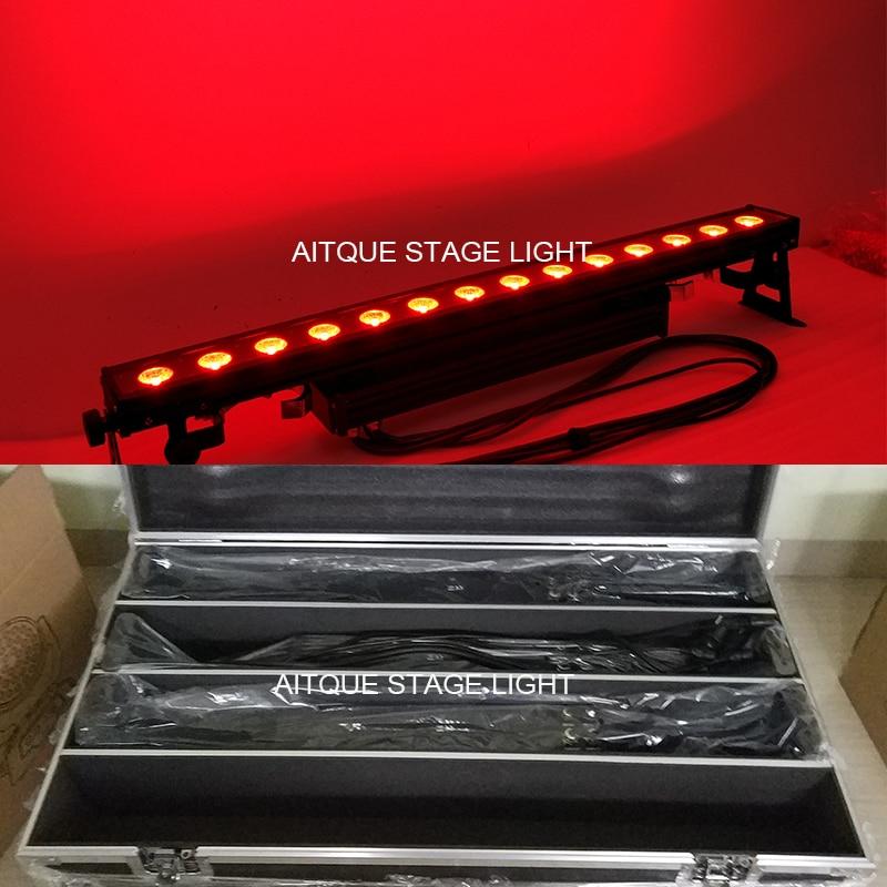 (Flycase)Disco Lights LED Array For Spotlights Led Pixel Bar Wash 14x30w Cob Rgb Led Dmx Running Lights Led Wall Washer IP65