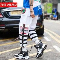 Mens Elastic Waist Design Sweatpant Pant 2019 Men Streetwear Hip Hop Casual Trousers Joggers Male Dancing Harem Pant White WG222