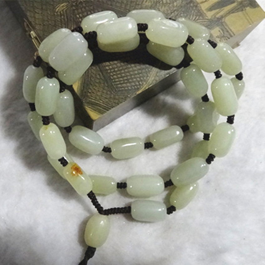 Hetian stone necklace for men and women Green opal necklace all sorts/ ...
