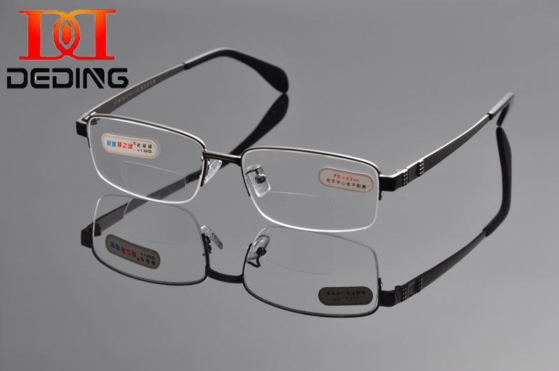 2015 DEDING Reka Bentuk Ultra Halus yang selesa Bifocal Reading Glasses Anti-keletihan Cermin mata Presbyopic oculos de leitura DD1043
