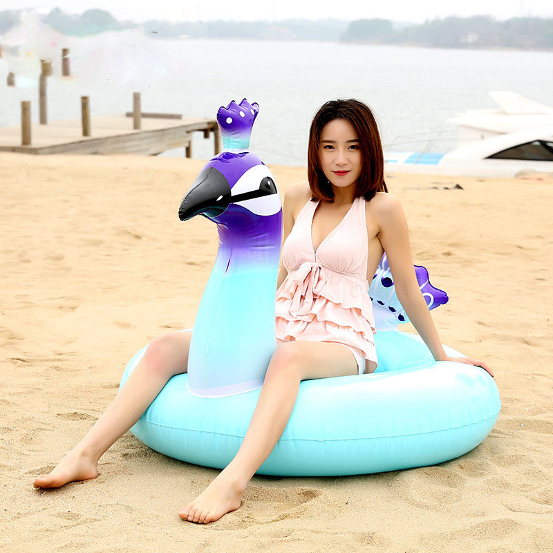 Peacock Unicorn Inflatable Swimming Ring 2018 Summer Pool Float For Adult Children Water Party Toys Lounger Boia