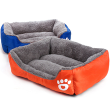 Bed For Dog Cat Pet Beds Sofas Warming Footprint House Soft Nest Baskets Fall and Winter Warm Kennel Puppy