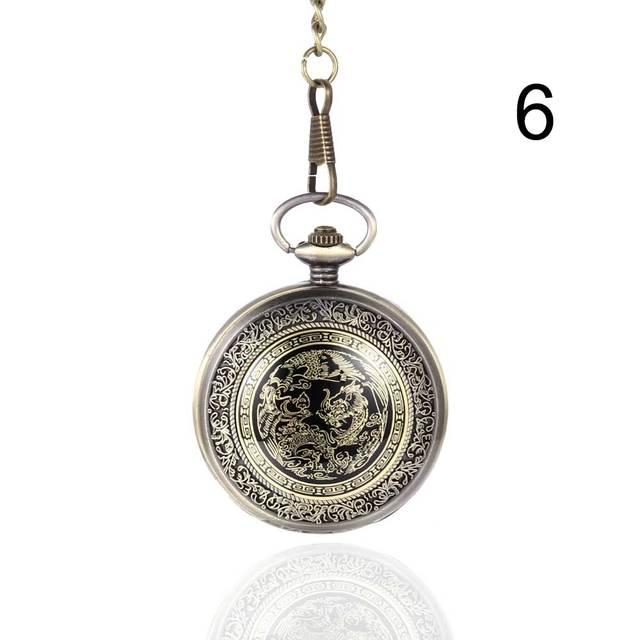 Fashion Unisex Pocket Watch Alloy Openable Vintage Quartz Clock Necklace Pendant