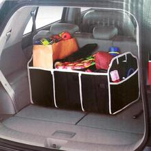 car folding storage box stowing tidying vehicle tool box multi use tools organizer plastic finishing box interior accessories VODOOL Car Trunk Organizer Storage Box Multi-Pocket Large Capacity Folding Cargo Toys Food Tool Storage Bag Car Stowing Tidying