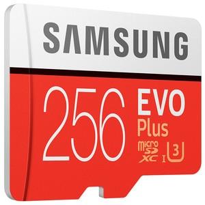 Image 2 - سامسونج tf بطاقة MB MC EVO Plus microSD256GB بطاقة الذاكرة UHS I 256GB U3 Class10 4K UltraHD بطاقة ذاكرة فلاش microSDXC