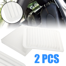 2pcs Engine & Cabin Air Filter Set Replacement For Toyota Corolla 2009-2014 87139-07010 17801-21050