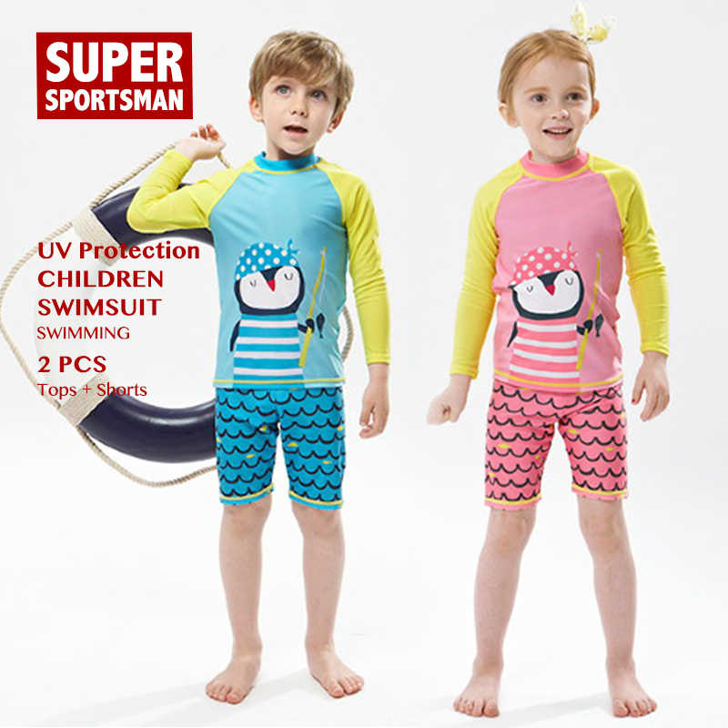 614e93464e Boys Girls Cartoon Swinsuit Baby Rashguard Kids Surfing Swimwear Children  Anti-UV Swim Suit Toddler