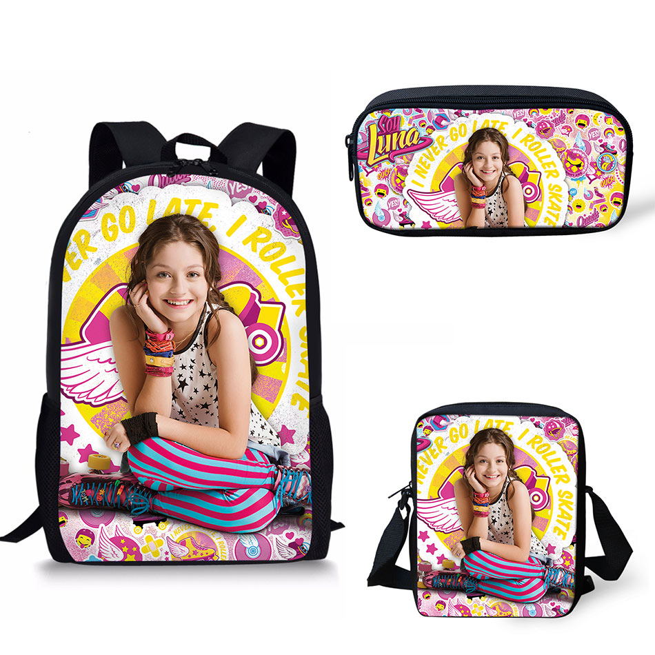 все цены на Noisydesigns School Bags Soy Luna Pattern Print School Backpack for Girls Boys Orthopedic Schoolbag Backpacks Children Book Bag