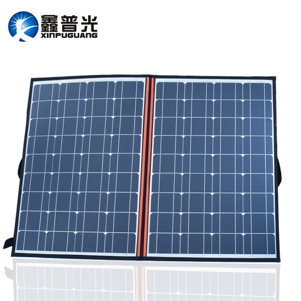 120W (2 PCS *60W) Watt Foldable Black solar panel charger China mono cell PV Module +12V/24V 10A volt controller solar blanket