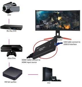 Image 5 - كامل HD USB 3.0 HDMI لعبة فيديو التقاط تسجيل بطاقة لماك Win10 الفيسبوك يوتيوب OBS نشل اجتماع في الهواء الطلق البث