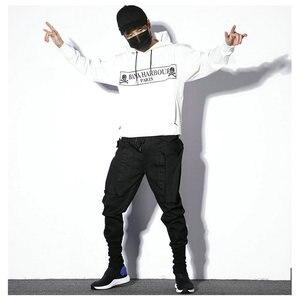 Image 5 - Мужские спортивные брюки, черные повседневные облегающие штаны шаровары в стиле хип хоп, весна 2020