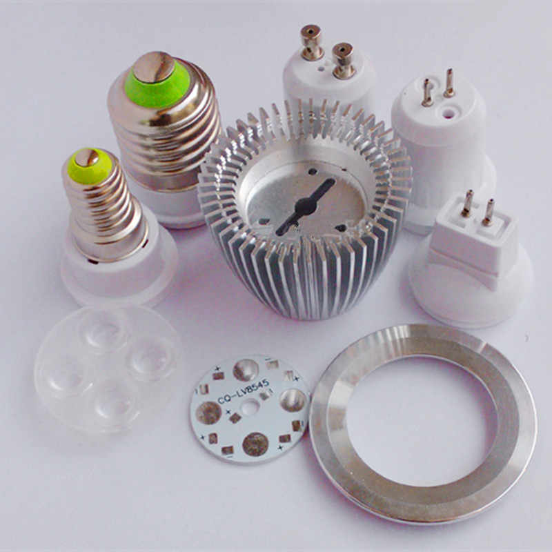 DIY led spotlight bulb 3W 4W 5W 7W GU10 GU5.3 MR16 E27 led spot light lamp cup radiato shell heat sink led light accessories