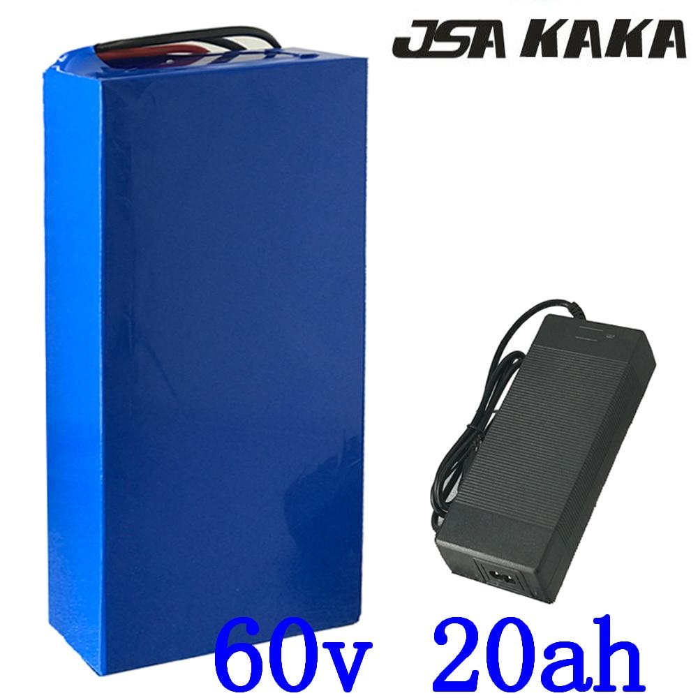 Ue US pas de taxe 60 V 1500 W batterie au Lithium 60 V 20AH batterie de vélo électrique 60 V 20AH scooter batterie utilisation 3.7 V 2500 mah cellule 5A chargeur