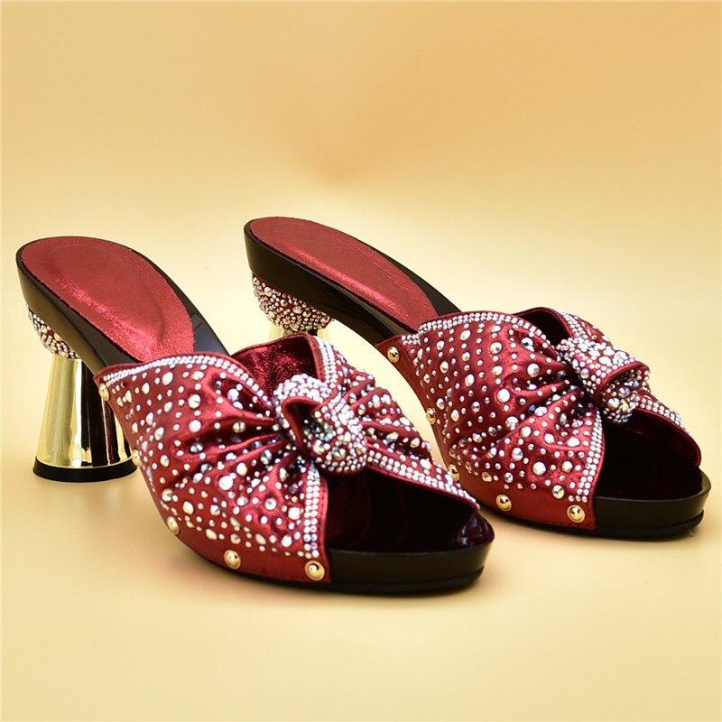 Con Zapatos De plata rojo Calidad Africanos Rhinestone Para Conjunto Bolsa Africana La Llegada Partido Decorado Alta El Italiano Nueva Y Negro oro 5YxqpP51