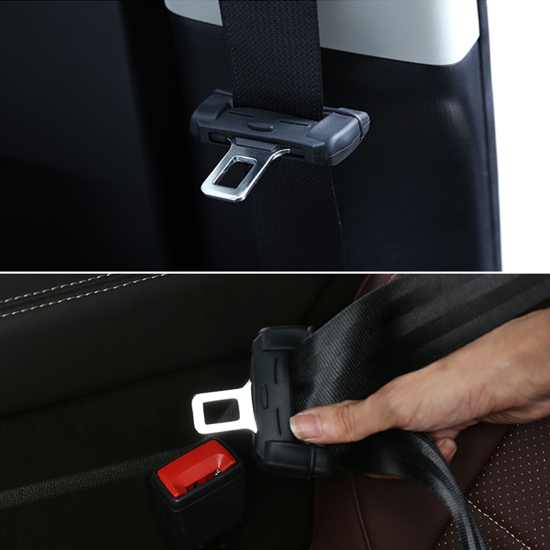 2pcs Car Safety Belt Buckle Silicon Protector For Mitsubishi Outlander 3 <font><b>Lancer</b></font> <font><b>10</b></font> 9 Asx Pajero Sport L200 Carisma Colt Grandis image