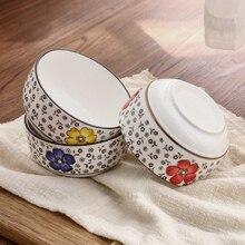 1 шт. Большая керамическая миска для риса миска Слива Японская чаша для риса Посуда, кухонная утварь