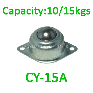 "4pcs CY-15A 15mm 5/8"" Cheap Pressed Steel metal Universal Robot Ball caster Swivel Round Metal Bull Ball Wheel transfer unit"