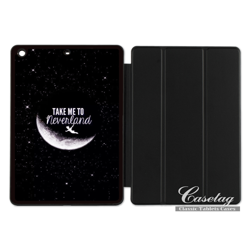 Peter Pan Take Me To Neverland Lovely Folio Smart Cover Case For Apple iPad 2 3 4 Mini Air 1 Pro 9.7 10.5 12.9 New 2017 a1822