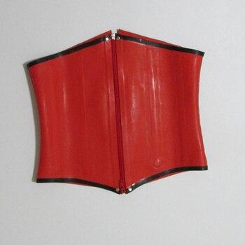 Women Red waist latex corsets for women gummi 1mm 100% natural rubber bustier underbust plus size hot sale Customize service - discount item  5% OFF Women's Intimates
