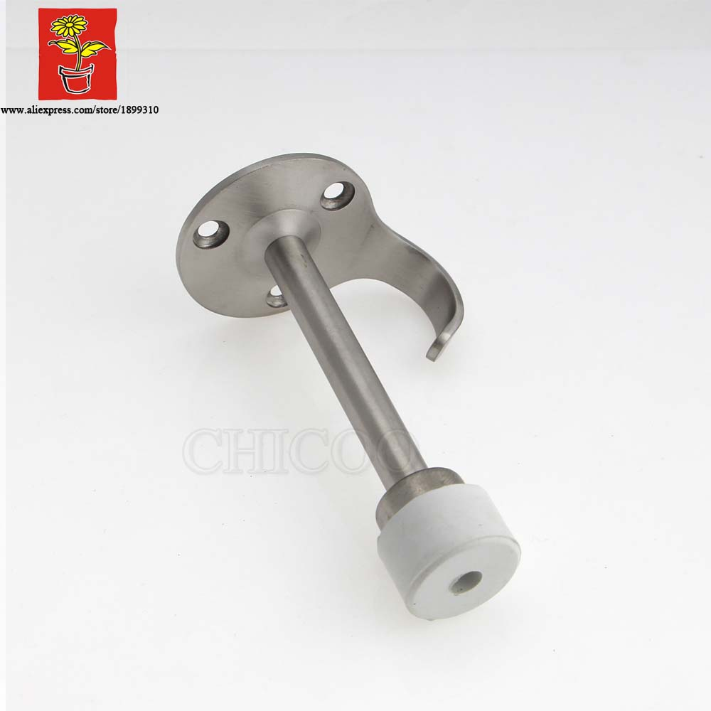 Chicoo Diy Choice Decorative Hardware Stainless Steel Wooden Door Stopper With Hook Wall Mounted Stops