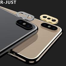 for iPhone XS Max Lens Protector Luxury Full Cover Scratch Proof Metal Lens Protection Cover for iPhone X XS XR Camera Ring Case(China)