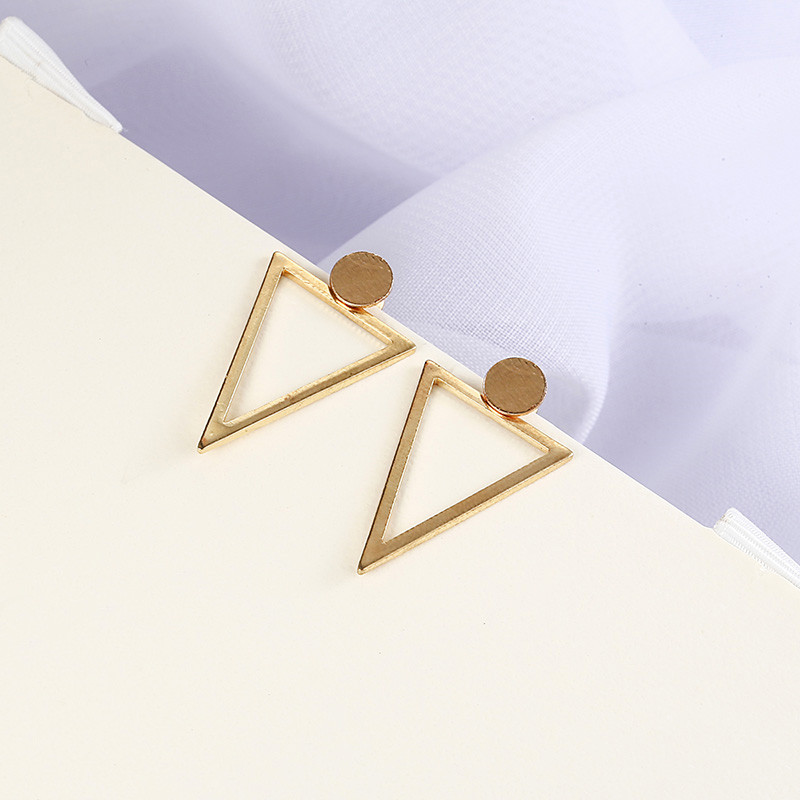 Simple Style Fashion Silver Gold Color Earrings for Women Square Round Geometric Hanging Earrings 18 Female Pendientes Jewelry 28