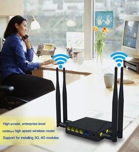 Image 5 - 300mbps אלחוטי נתב עם 4 חיצוני אנטנה בית נתב קל להתקין נקודת גישת wifi נתב עם חריץ כרטיס ה sim