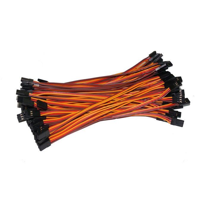 Free shipping 500pcs lot 150mm JR male to male connection cable extension servo cable for JR