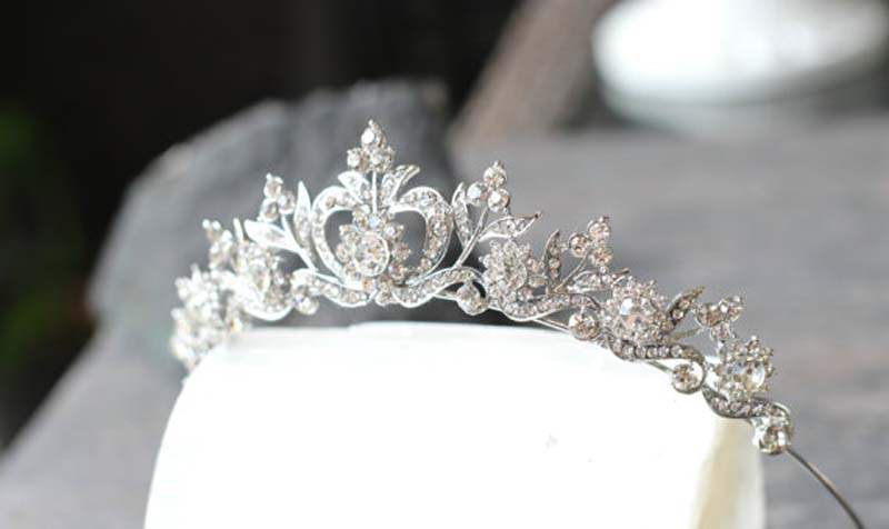 New style Hair Jewelry Vintage Silver Gold Crystal Tiara Princess Wedding Crown For Women Wedding Hair Accessories Headdress 7