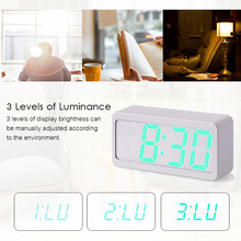 LED USB Battery Alarm Clock Powered Digital RGB Indoor Thermometer Electronic Desktop Table Clocks best selling 2018 products
