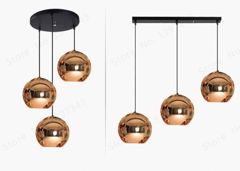 pingente lâmpada bola de vidro brilho moderno