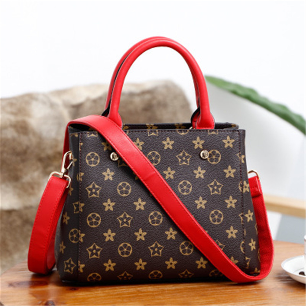 Hot sale Todaies Simple Larger Capacity Leather Women Shoulder bag Handbag Red Color