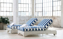 Lloyd Flanders Double Pool Rattan Chaise(China)