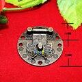 Em Estoque 10 conjunto de Jóias De Madeira Caixa de Bloqueio Fivela Decorativo Hardware Fecho de Bronze Antigo Da Borboleta 3.9 cm (1 4/8 polegada) de Diâmetro