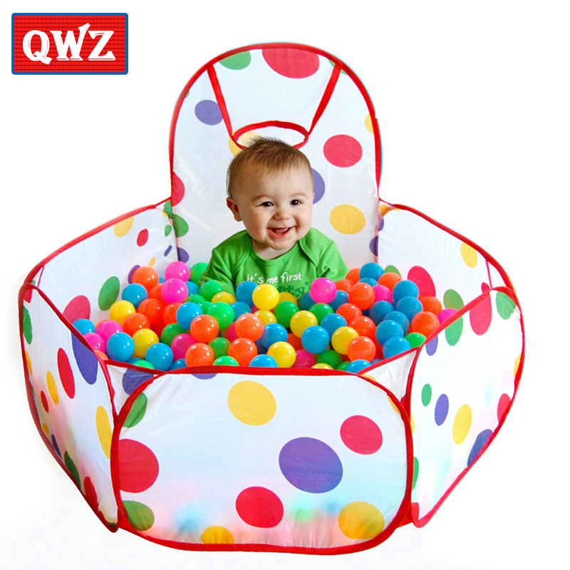 QWZ Childrens Tent Ocean Balls for Pool Play Tents Foldable Outdoor Game Large Tent for Kids Children Play Hot 2018