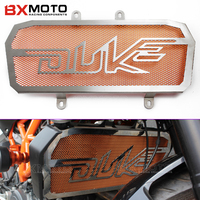 New Stainless For KTM DUKE 390 Steel Motorcycle Radiator Grill Guard Cover Protector Radiator Protection Silver