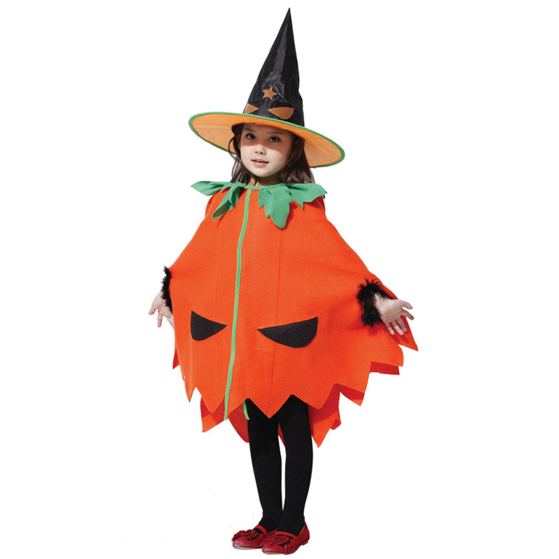 Umorden Halloween Pumpkin Costume Baby Girls Toddler Kids Fancy Dress Cape