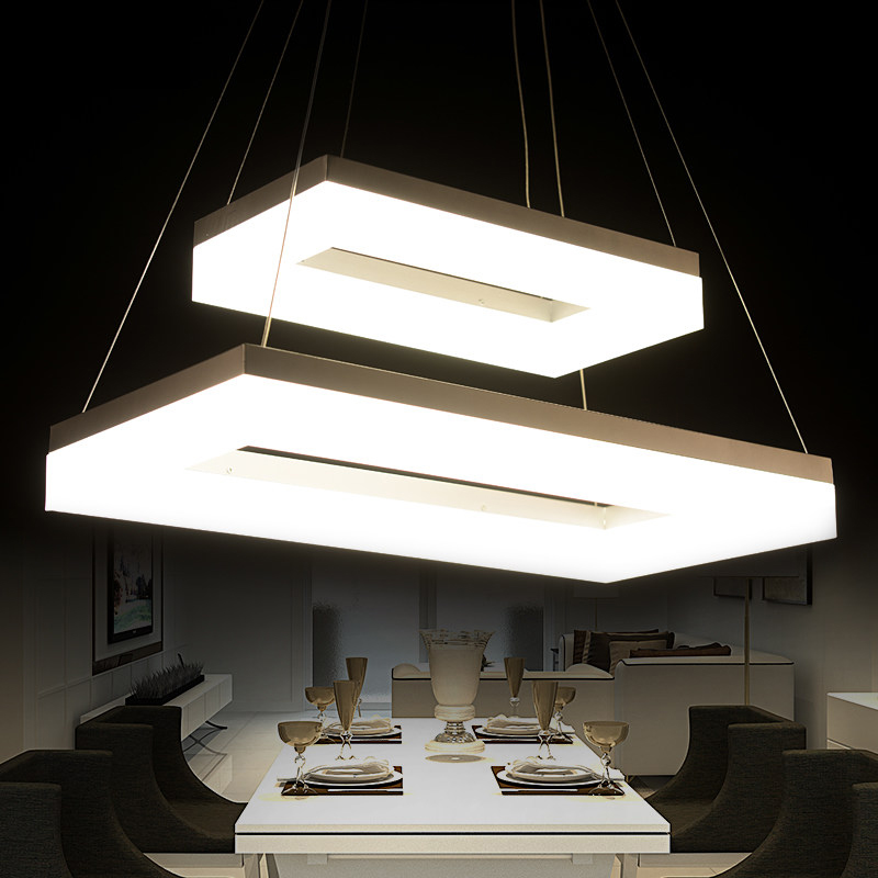 Creative Modern led pendant lights for dining room living room lampara modern home lighting fixture pendant lamp cold white modern guard dining room pendant lights white black golden silver lamp