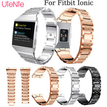 Mens watches womens bracelet For Fitbit Ionic Fashion/Classic inlay diamond Watchband smart watch wristband