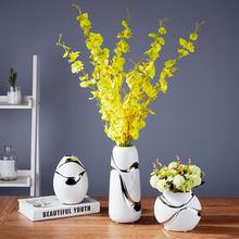 The living room decoration flower vase ceramic three piece modern minimalist style Home Furnishing Decoration