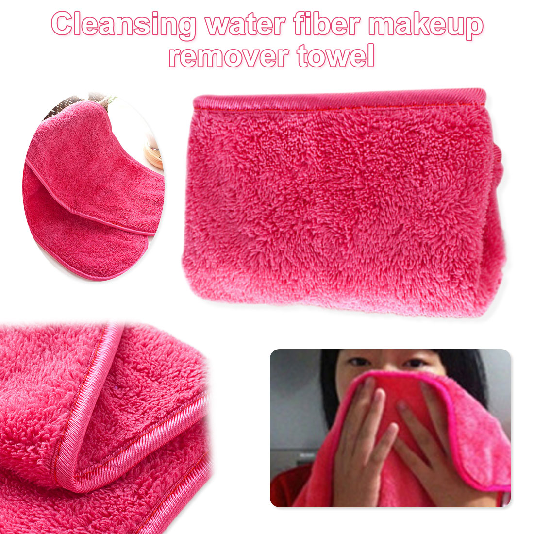 Makeup Remover 40*18CM Microfiber Cloth Pads Remover Towel Face Cleansing Makeup Cleansing Towel
