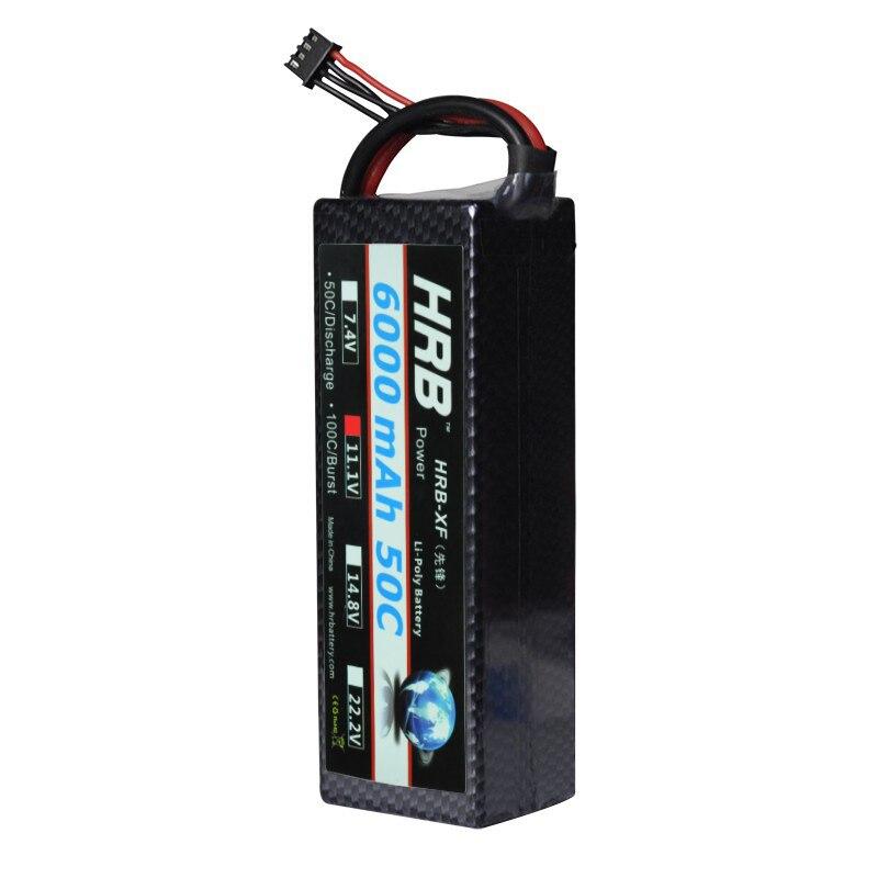 HRB Lipo font b RC b font Battery 3S 11 1V 6000mAh 50C Hard Case for