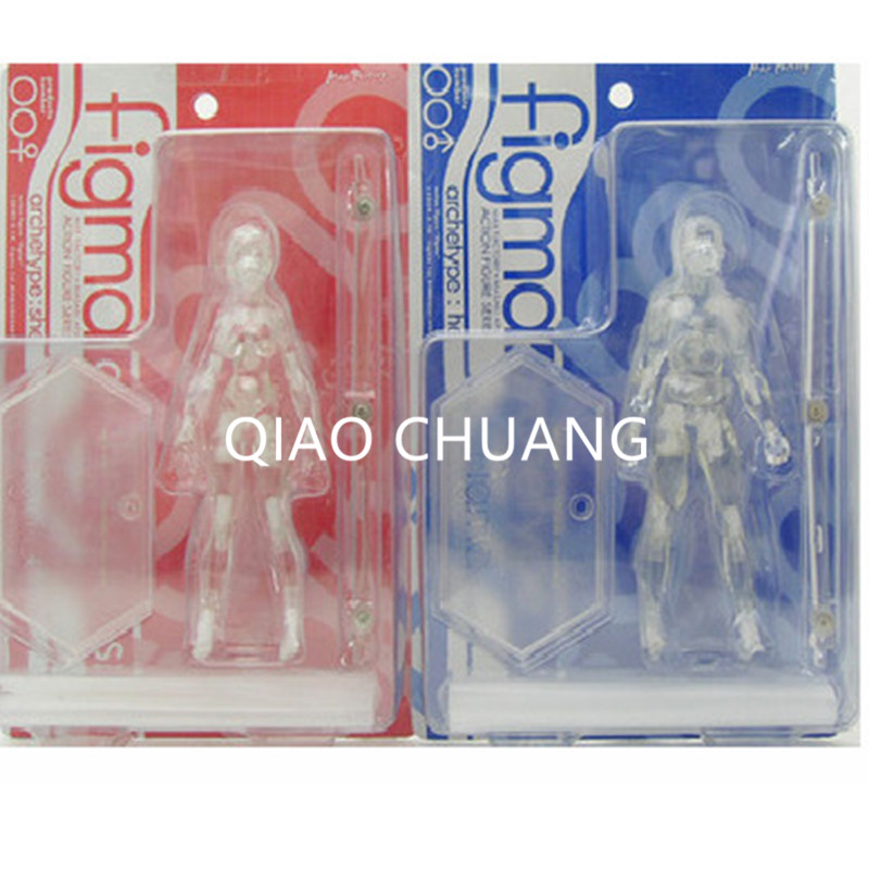 15CM Chroma BODY Male Woman Movable Transparent Colo He She PVC Action Figure Collection Model Toy RETAIL BOX G115
