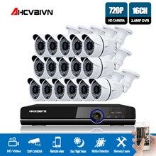 1080 P AHD DVR NVR CCTV 16CH HDMI 16 pcs AHD 720 P 2000TVL IR 비바람에 견디는 CCTV 카메라 보안 시스템 감시 키트 4 테라바이트 하드