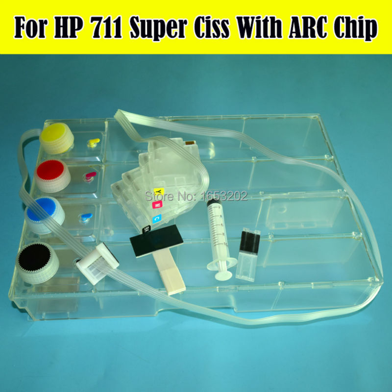 DIY With Permanent ARC Chip For HP 711 CISS System For HP Designjet T120 T520 120 520 Printers Ciss 36/24 inch hp designjet t120