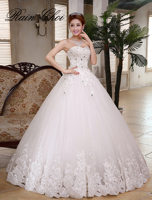 New Arribal Ball Gown Princess Bridal Gowns Real Wedding Dress 2018 ...