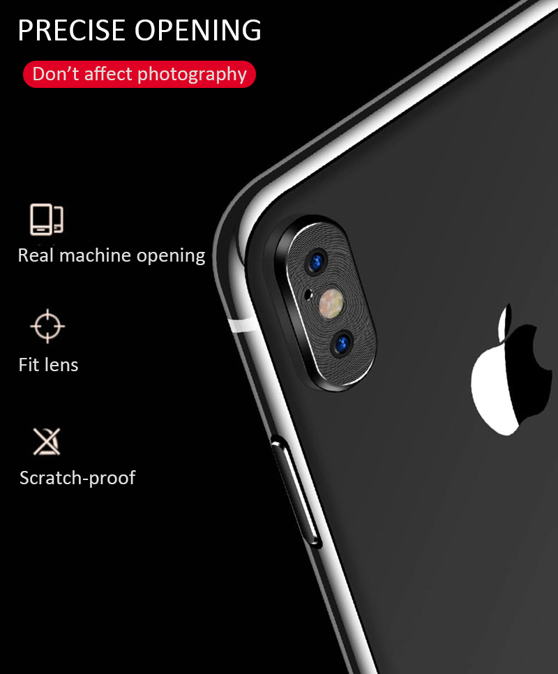 KIPX1118_9_Metal Camera Lens Protector for iPhone X XS XR XS Max 360 Full Protection Anti-scratch Camera Protective Cover